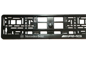 Mercedes Amg European Euro License Number Plate Holder Frame German Car Tag