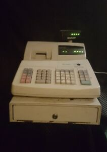 Sharp Electronic Cash Register Xe a201 No Key Book Or Software