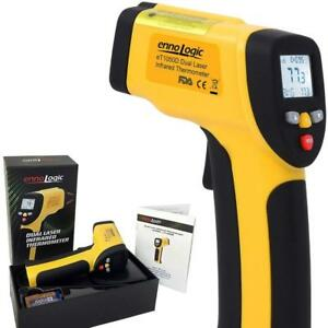 Temperature Gun By Ennologic Accurate High Dual Laser Infrared Thermometer