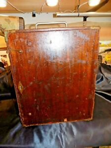 Rare Vintage Surveyors Transit In Original Wooden Cabinet Excellent Condition