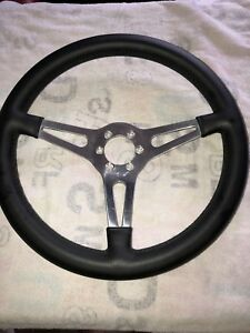 Ac Cobra Shelby Mustang 6 Bolt Leather Moto Lita Steering Wheel 14 Dished