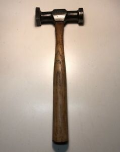 Vintage Atha Auto Body Hammer W 11 Handle Square Round Faces