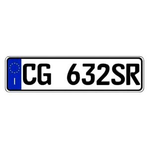 Italy Any Country Random Authentic Eec Europlate License Plate