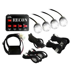 Recon 26419wh White Led Hideaway Strobe Light Kit