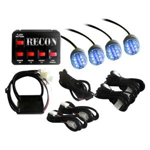 Recon 26419bl Blue Led Hideaway Strobe Light Kit