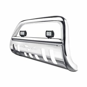 For Cadillac Escalade 99 06 3 Polished Led Bull Bar W Skid Plate