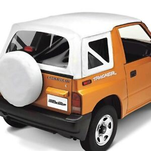For Geo Tracker 1989 1994 Bestop 51362 52 Replace a top White Denim Soft Top