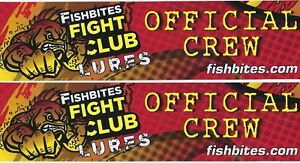Fishbites Fight Club Lures Fishing Decals Set Of 2 Red 11 1 2 By 3