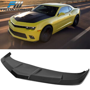 Fits 14 15 Chevy Camaro Ss Pu Front Bumper Lip Splitter Spoiler 1le Style