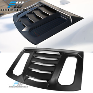 Fits 16 19 Chevy Camaro Ikon V2 Style Window Scoop Louver Sun Shade Cover Abs