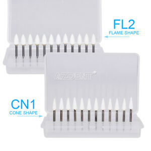 Dental Lab Polishing Burs Flame Mounted cone White Stone Fg Abrasion Fl 2 cn1