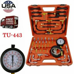 Fuel Injection Pump Pressure Tester Manometer Car Auto Gauge Test Kit 0 140 Psi