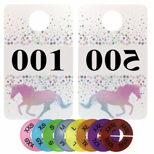 Number Cards For Live Sales Plastic Coat Hanger Number Tags Mirrored Normal