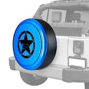 For Jeep Wrangler 07 17 Tire Cover 32 Rigid Series Surf Blue Pearl Spare Tire