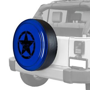 For Jeep Wrangler Jk 18 32 Tire Cover Rigid Series Deep Water Blue Pearl Spare