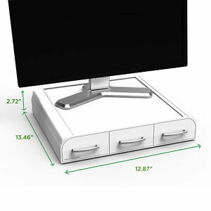 Mind Reader Monitor Stand And Desk Organizer Ndkm1051