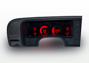 1995 1999 Chevy Truck Digital Dash Panel Red Led Gauges For Ls Swap Made In Us