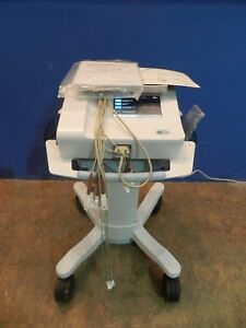 Welch Allyn Cp150 Ecg Machine With Stand Patient Cable And Manual disk