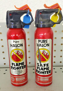 Safe Pure Halon Fire Extinguisher Flamefighter 1211 1301 1 b c Two Pack