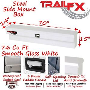 160701s Trailfx 70 White Steel Side Mount Truck Tool Box