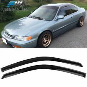 Fits 94 97 Honda Accord Coupe Slim Style Acrylic Window Visors 2pc Set