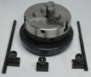 65 Mm 3 Jaws Self Centering Chuck With Back Plate T Nuts For Rotary Table
