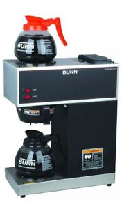 Bunn 12 Cup Pourover Coffee Brewer With 2 Warmers vpr black Brand New