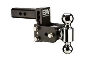 B W 3 Drop 3 1 2 Rise Tow Stow Receiver Hitch 2 5 16 X 2 Dual Ball