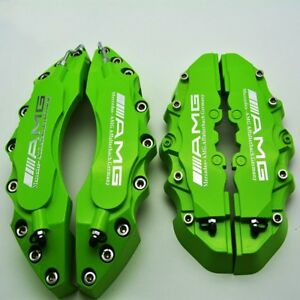 Amg Chrome Green Disc Brake Caliper Cover 4pcs Size 27cm And 24 Cm