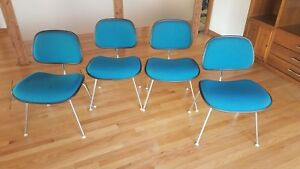 New Low Price Authentic Eames Herman Miller Ec 127 Dcm Chair W Knoll Fabric