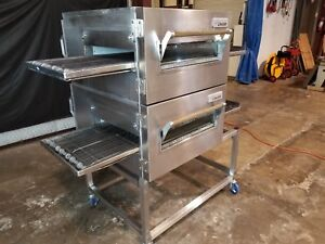 Lincoln Impinger 1132 Dbl Stack Electric Conveyor Pizza Ovens video Demo