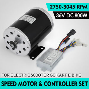 36v Dc Electric Brushed Speed Motor 800w And Controller Bicycle 3000 Rpm 25h 11t