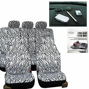Car Seat Covers Luxury Pink White Zebra For Girl Free Gift Dash Grip Pad