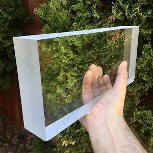 2 Thick Cast Acrylic Plexiglass Perspex Block Clear 2 X 12 X 5 25