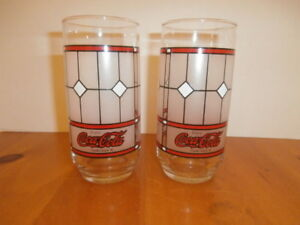 Set of Two Vintage Coca Cola Glass Tumblers