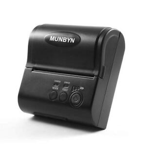 Wireless Mobile Thermal Receipt Printer Bluetooth Micro usb Munbyn 80mm