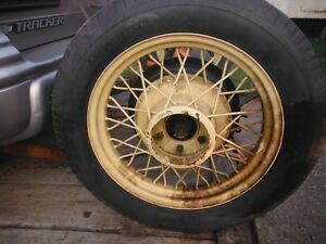 Set Of 5 Wire Spoke Wheels From 1931 Chevy Car