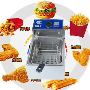2500w 5 5 Liter Electric Countertop Deep Fryer Tank Basket Commercial Restaurant