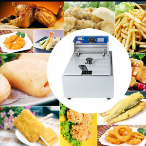 5l Electric Countertop Deep Fryer Commercial Basket French Fry Restaurant 2500w