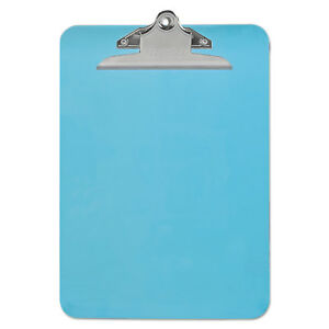 Universal Blue Plastic Clipboard With 1 High Capacity Clip pack Of 9