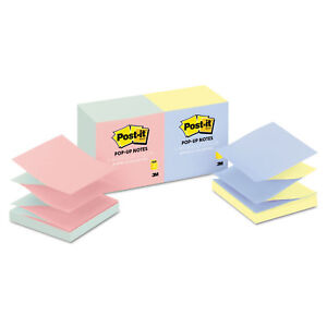 Post it Pop up Notes Original Pop up Refill Alternating Marseille Colors 3 X 3