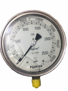 High Pressure Gauge Dual Scale 0 2500 Bar 0 35000 Psi Ideal For Common Rail New