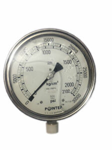 High Pressure Gauge Dual Scale 0 2100 Bar 0 30000 Psi Ideal For Common Rail New
