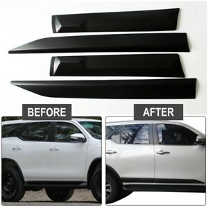 Side Doors Body Cladding Cover Trim For Toyota Fortuner Hilux Sw4 2015 2016 2017