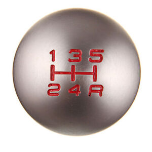 5 6 Speed Shifter Lever Shift Knob Round Ball Aluminum Fit Honda Accord Civic