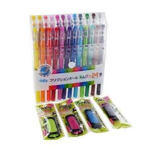 Pilot Frixion Erasable Gel Ink Pens 0 7mm Assorted Colors 24 pack With