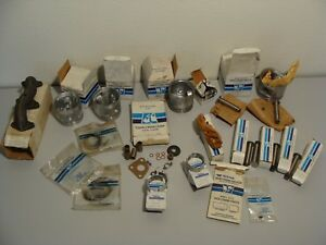 Vintage Lot Wisconsin Teledyne Motor Engine Parts nos piston s bearings tappets