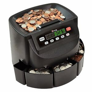 Digital Coin Change Sorter Machine Usa Money Counter Wrapper Fast Quiet Easy Use