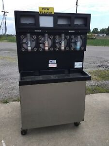 Taylor 349 33 Carbonated 4 Flavor Frozen Icee Slushie Drink Machine 3 Phase 1