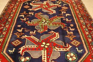 C 1930s Antique Caucasian Kazakshirvan Pin Wheel Design Caucasian Rug 4 10x11 3